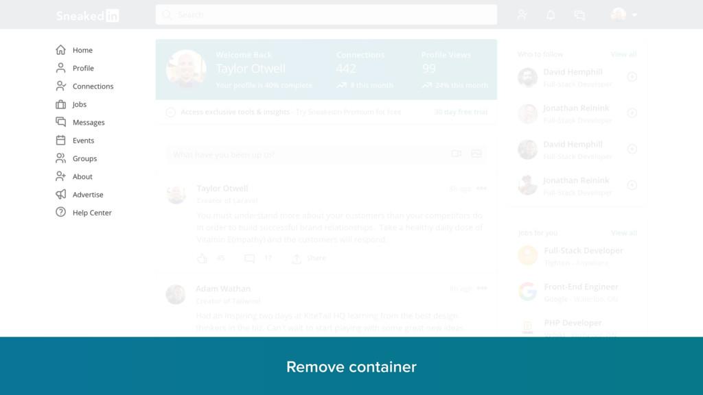 Remove container r