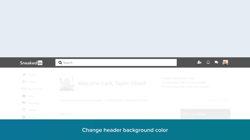 Change header background color