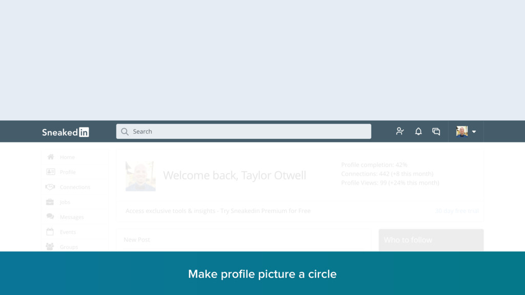 Make profile picture a circle