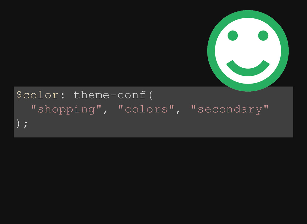 "$color: theme-conf( ""shopping"", ""colors"", ""seco..."