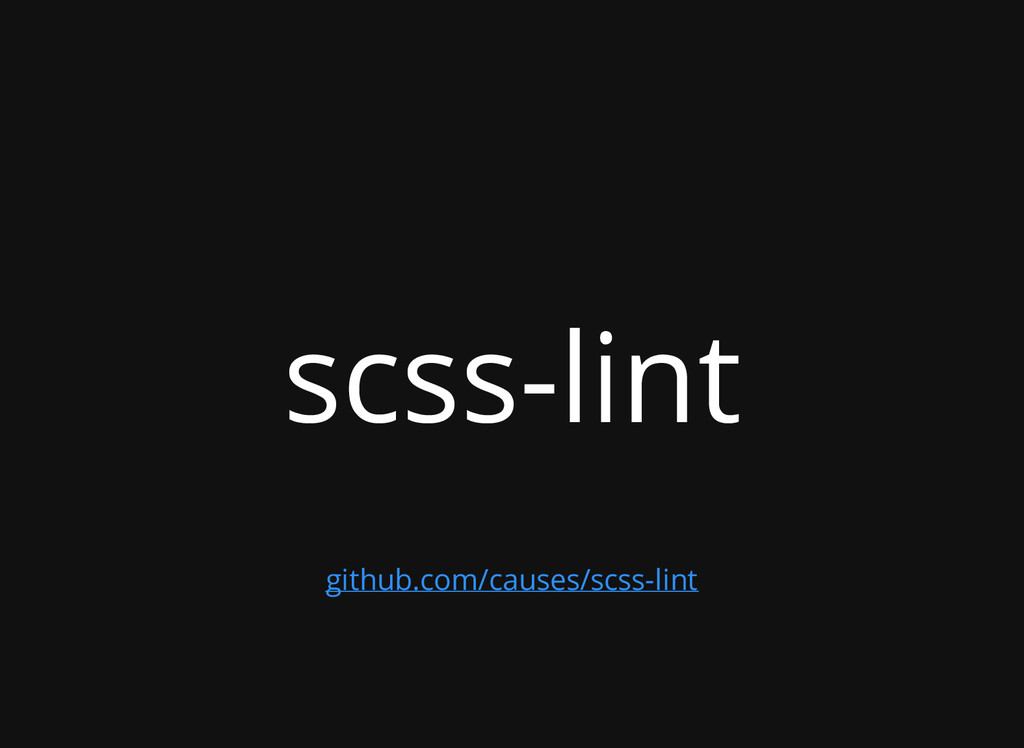 scss-lint github.com/causes/scss-lint