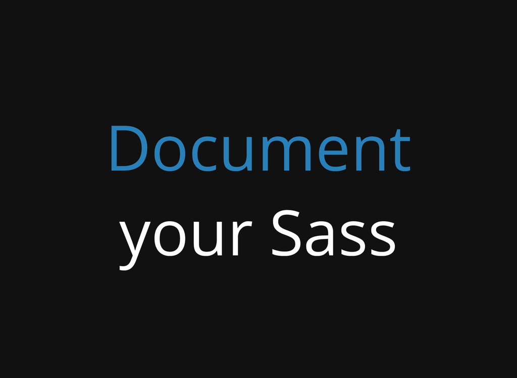 Document your Sass