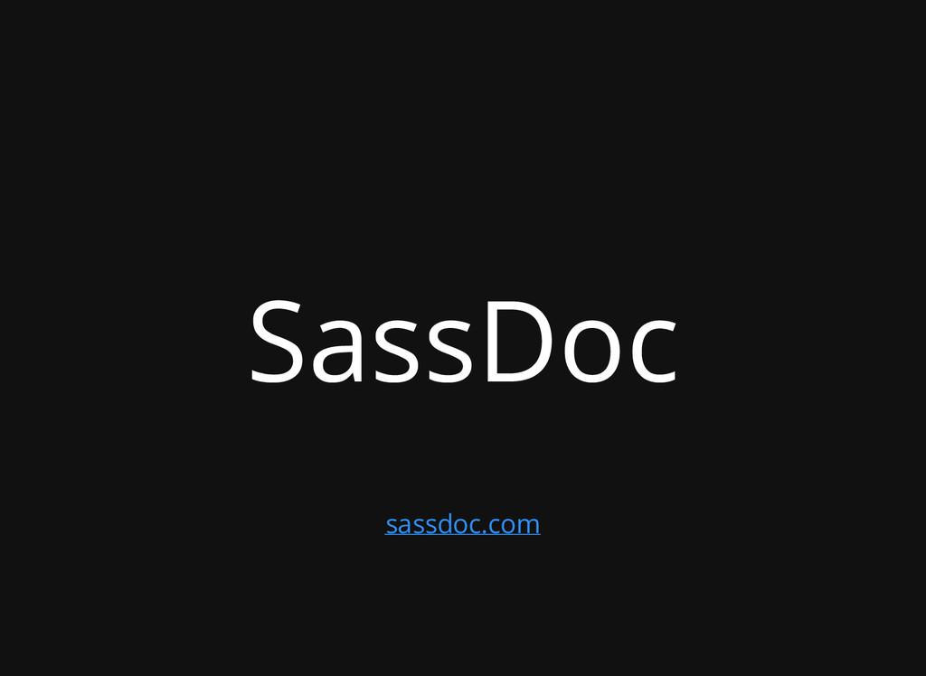 SassDoc sassdoc.com