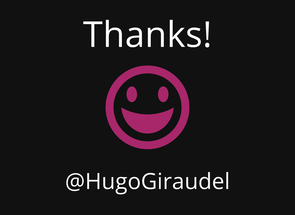 Thanks! @HugoGiraudel