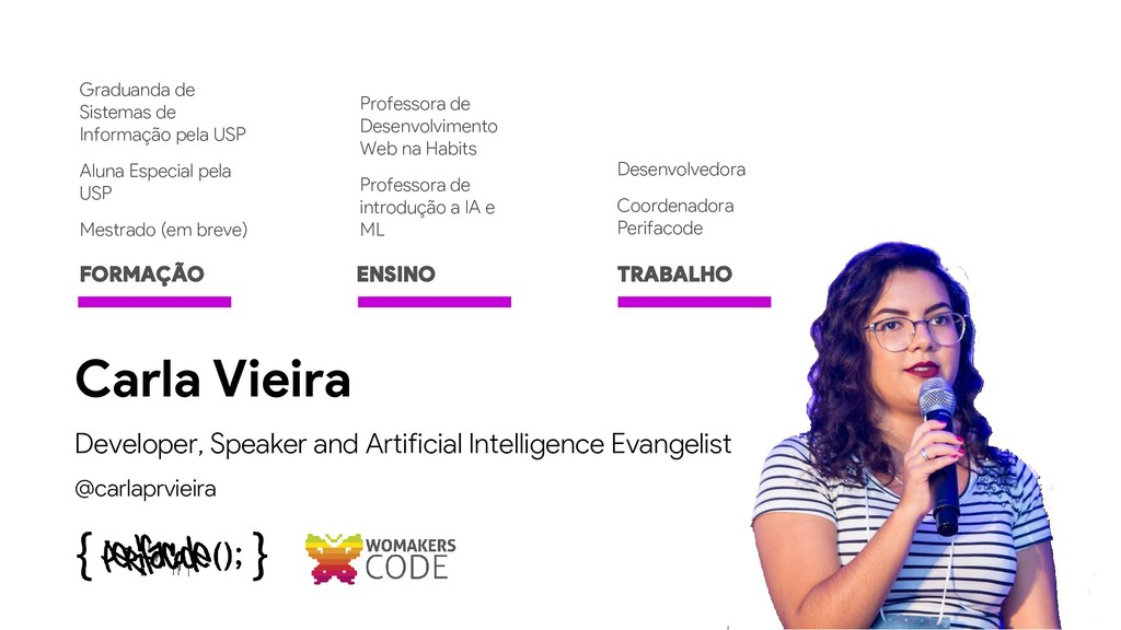 Developer, Speaker and Artificial Intelligence ...