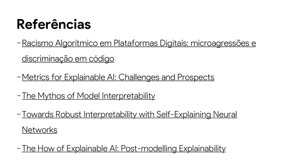 Referências −Racismo Algorítmico em Plataformas...