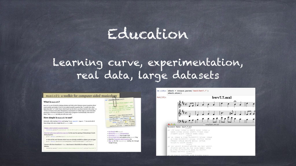 Education Learning curve, experimentation, real...