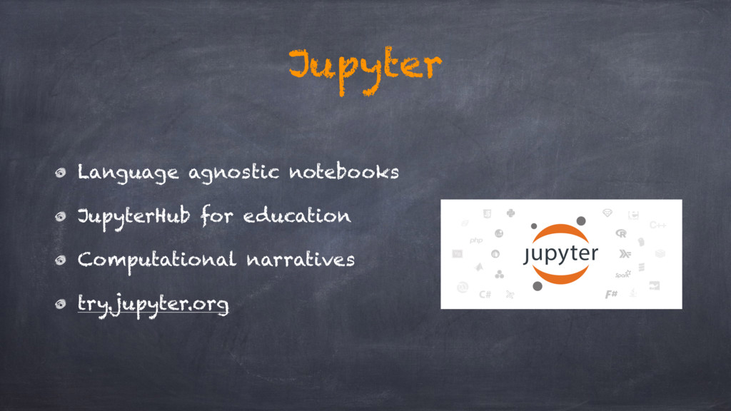 Jupyter Language agnostic notebooks JupyterHub ...
