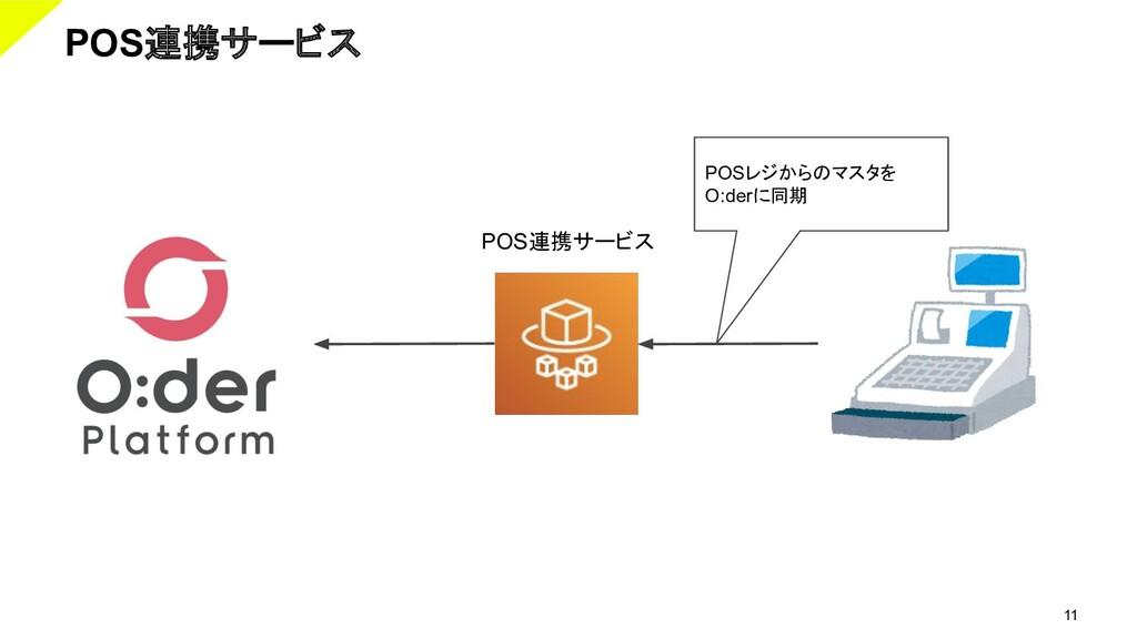 11 POS連携サービス POSレジからのマスタを O:derに同期 POS連携サービス