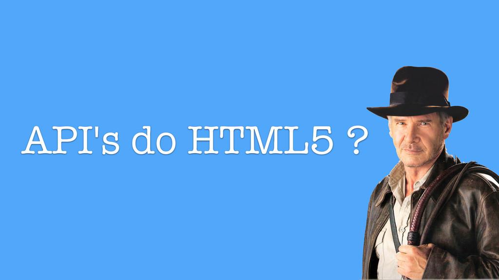 API's do HTML5 ?