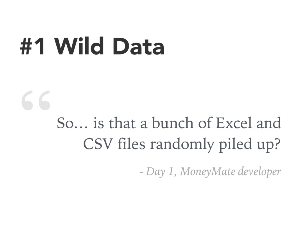 #1 Wild Data So… is that a bunch of Excel and C...