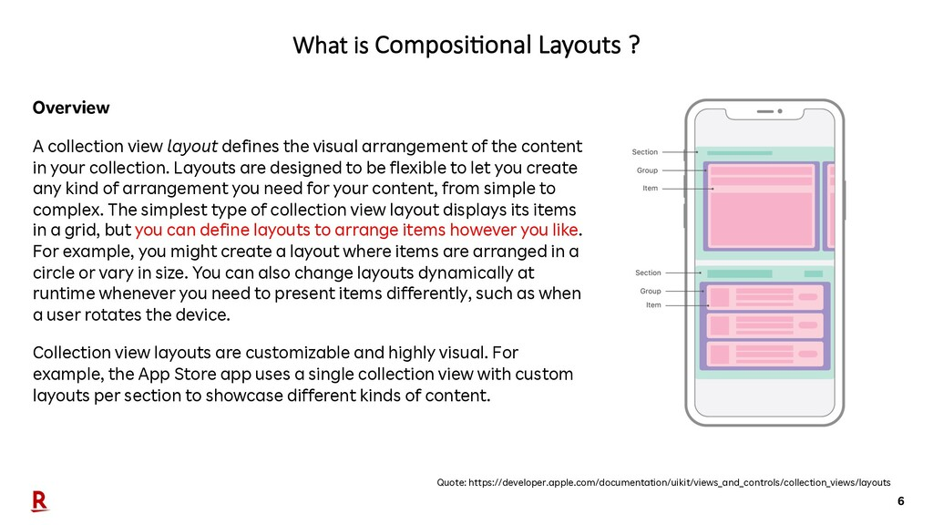 6 What is Composi'onal Layouts ? Quote: https:/...