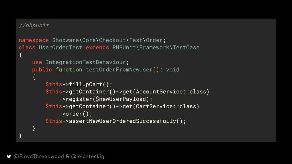 //phpUnit namespace Shopware\Core\Checkout\Test...