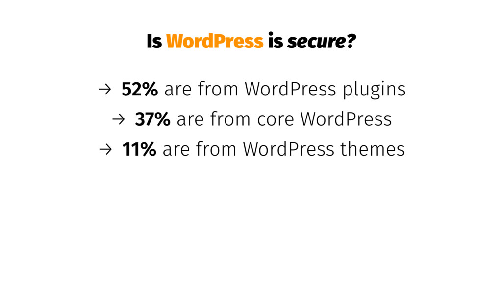 Is WordPress is secure? → 52% are from WordPres...