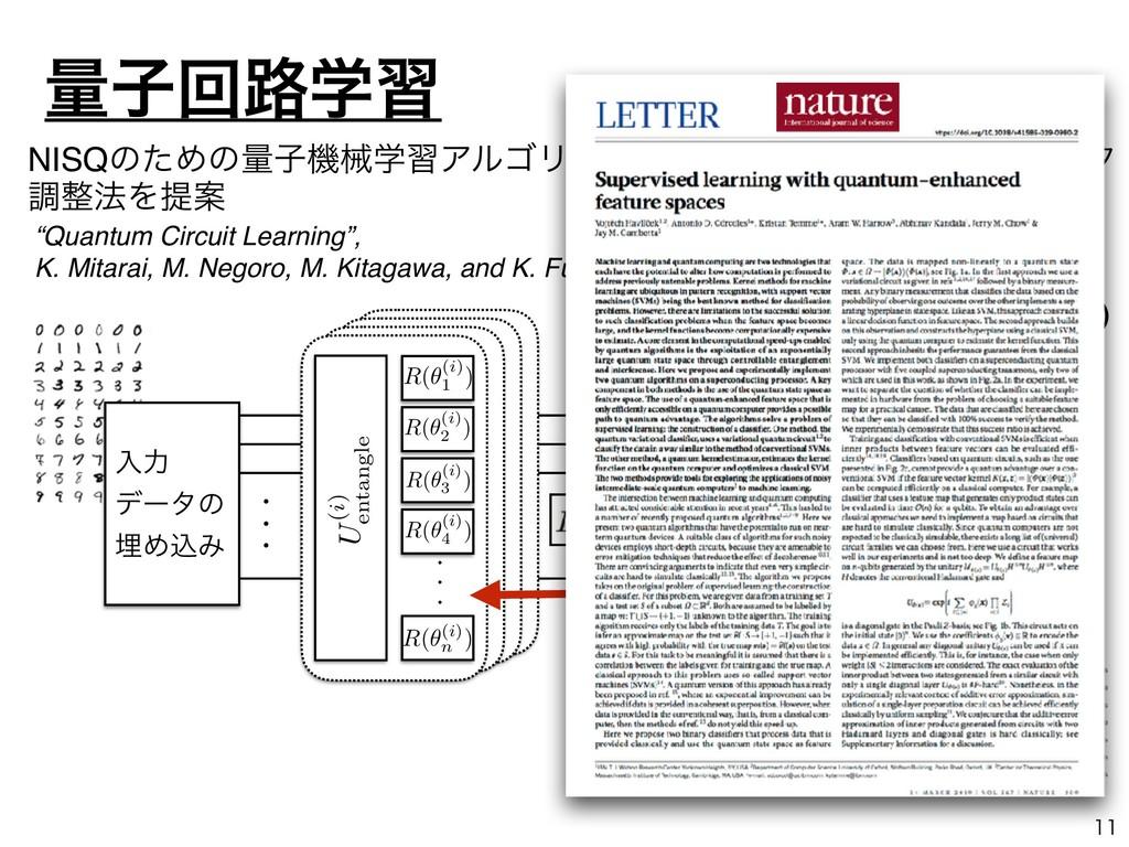 """""""Quantum Circuit Learning"""", K. Mitarai, M. Nego..."""