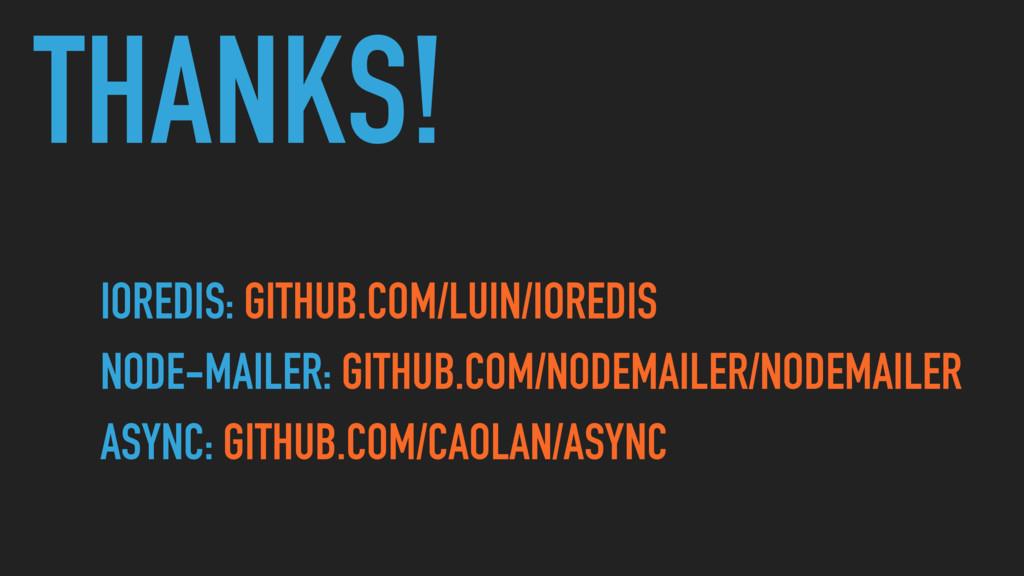 THANKS! IOREDIS: GITHUB.COM/LUIN/IOREDIS NODE-M...