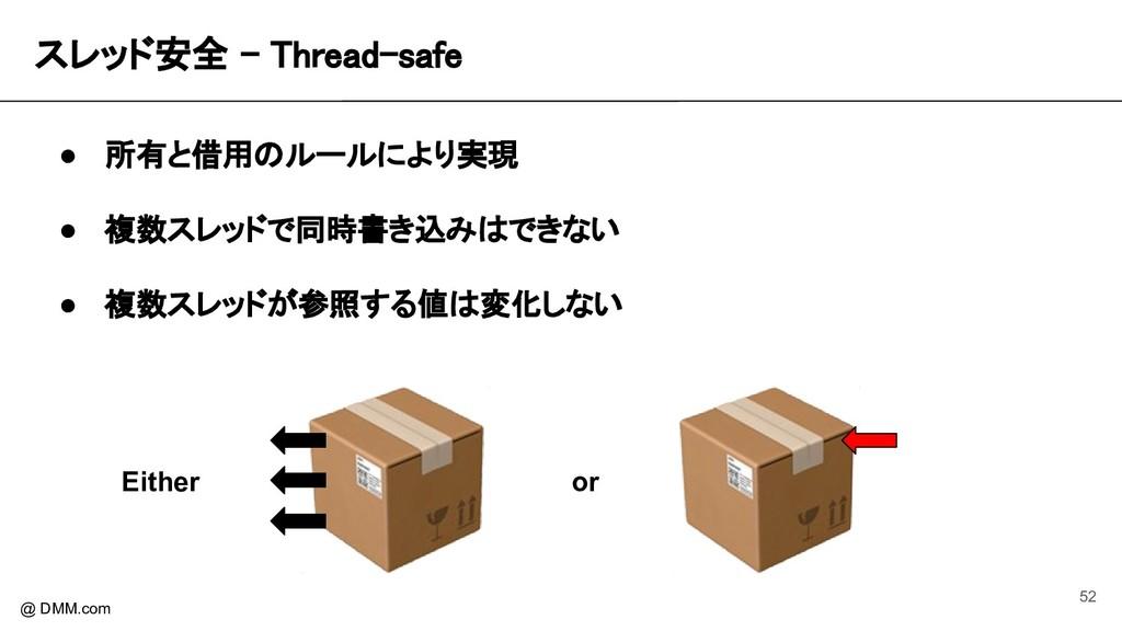 スレッド安全 - Thread-safe @ DMM.com ● 所有と借用のルールにより実...