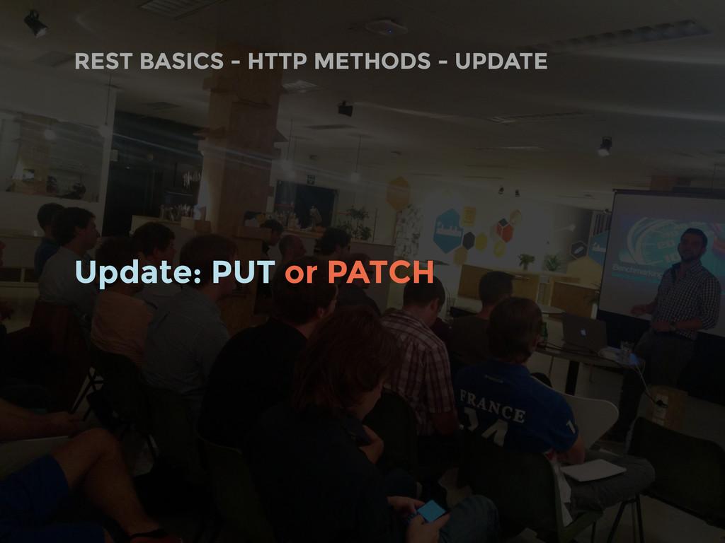 REST BASICS - HTTP METHODS - UPDATE Update: PUT...