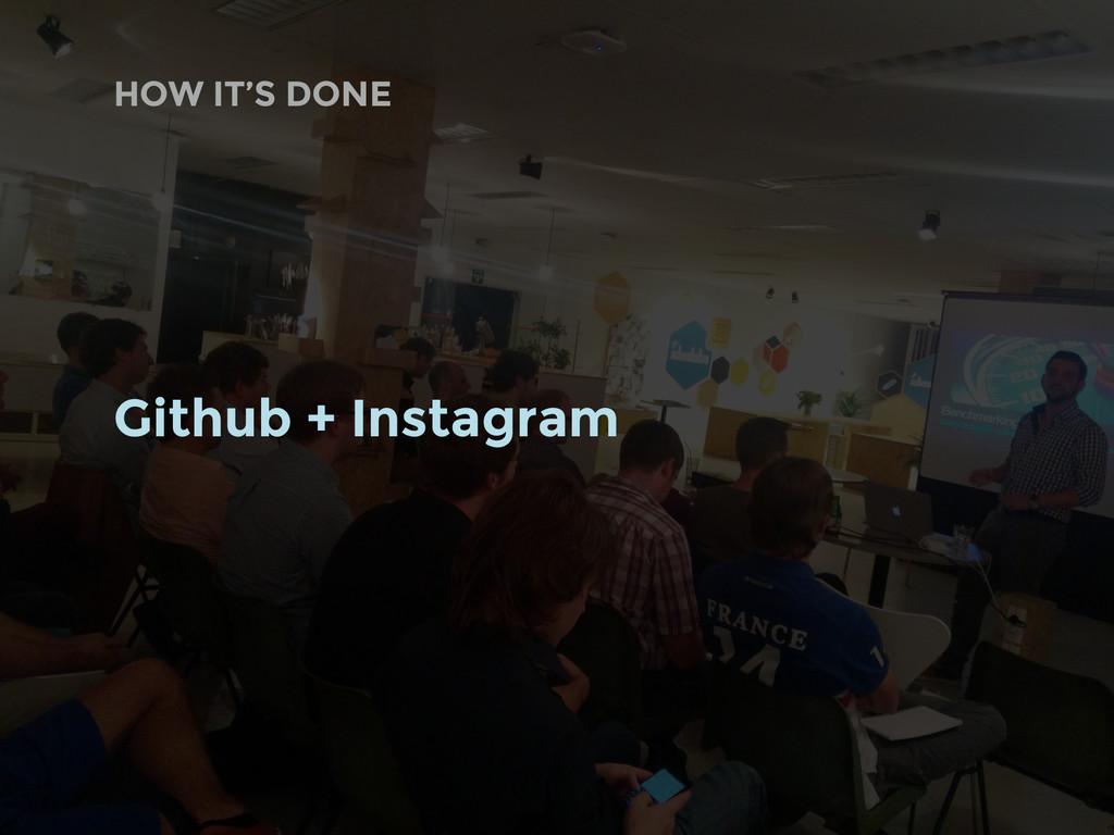Github + Instagram HOW IT'S DONE