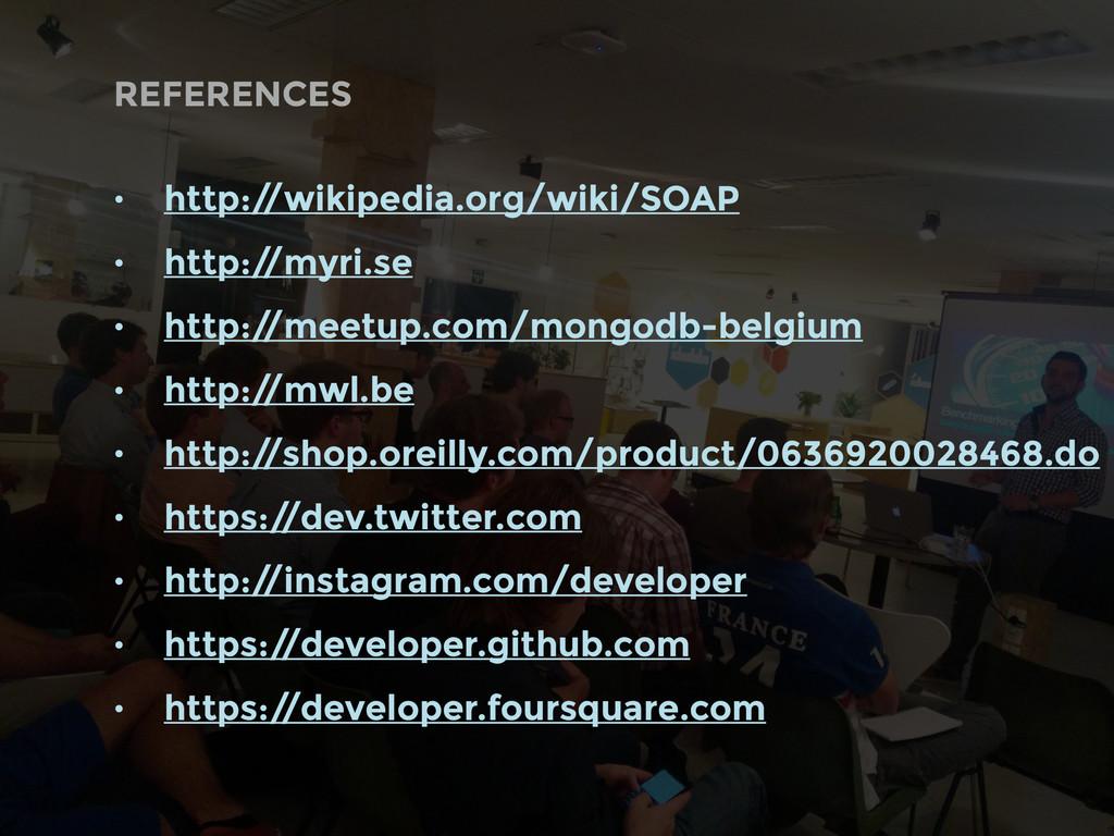• http:/ /wikipedia.org/wiki/SOAP • http:/ /myr...