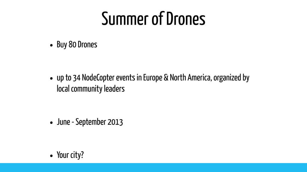 Summer of Drones • Buy 80 Drones • up to 34 Nod...