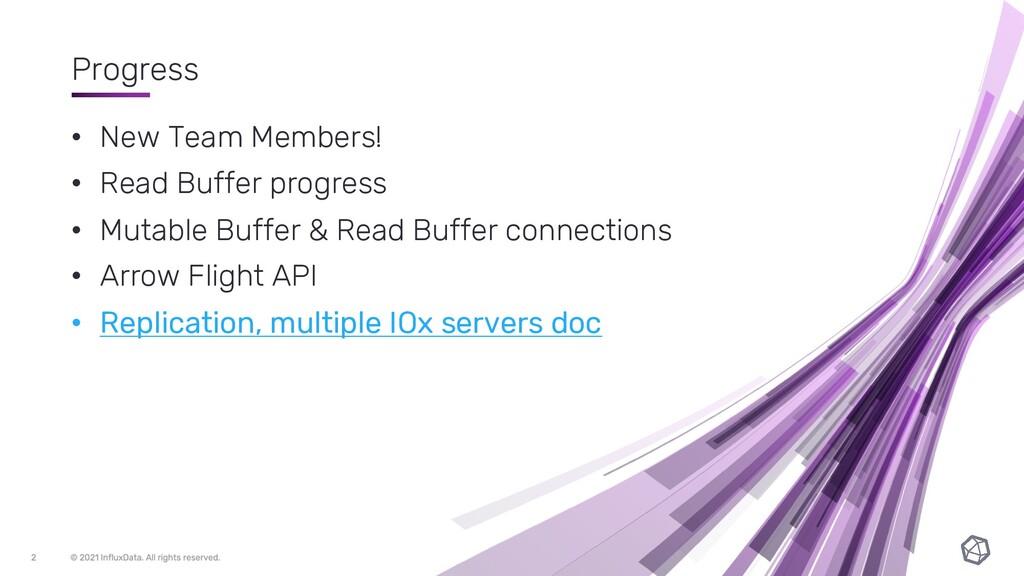Progress • New Team Members! • Read Buffer prog...