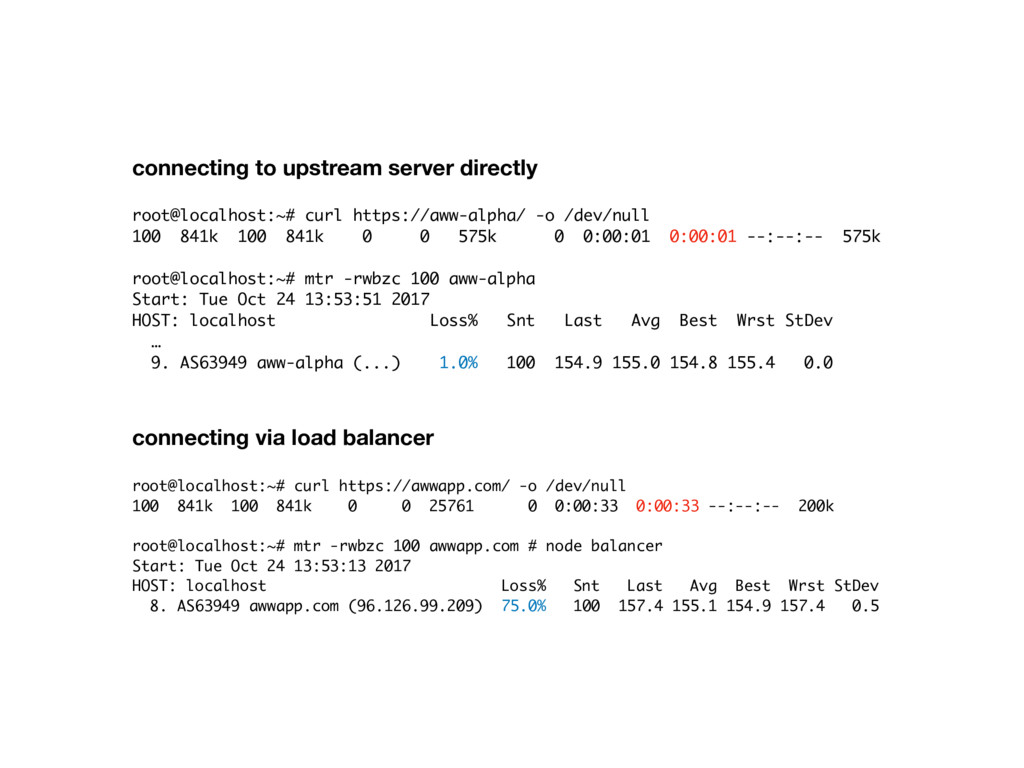 connecting to upstream server directly  root@l...