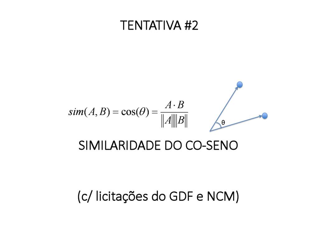 SIMILARIDADE DO CO-SENO   (c/ licitações d...