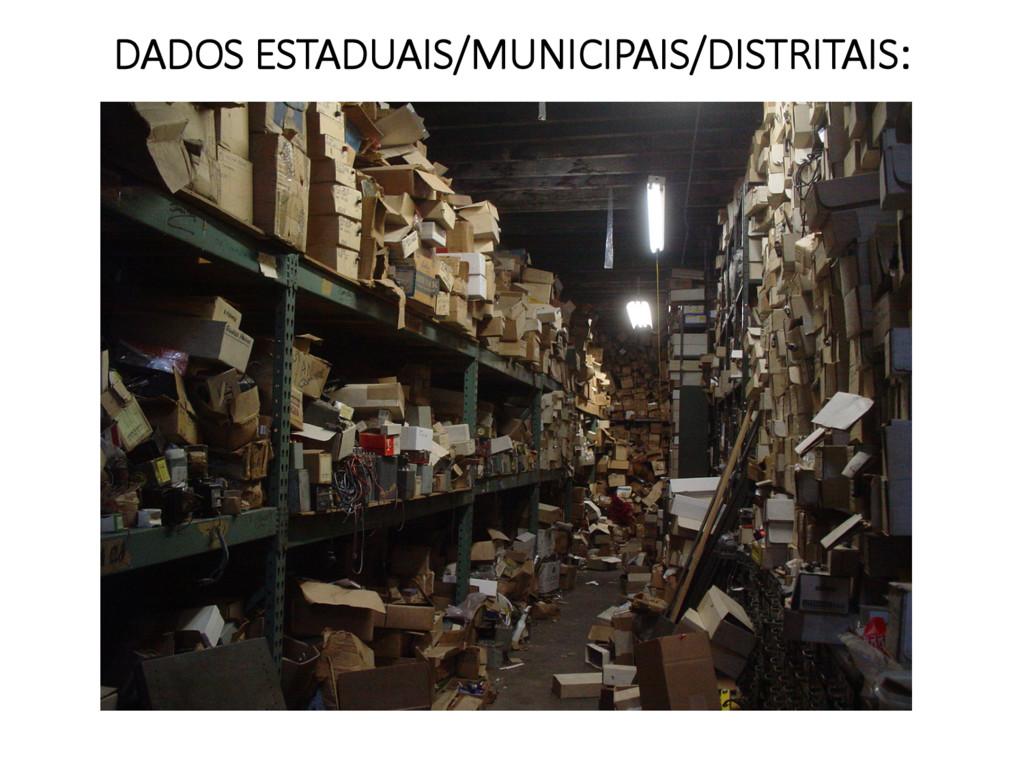 DADOS ESTADUAIS/MUNICIPAIS/DISTRITAIS: