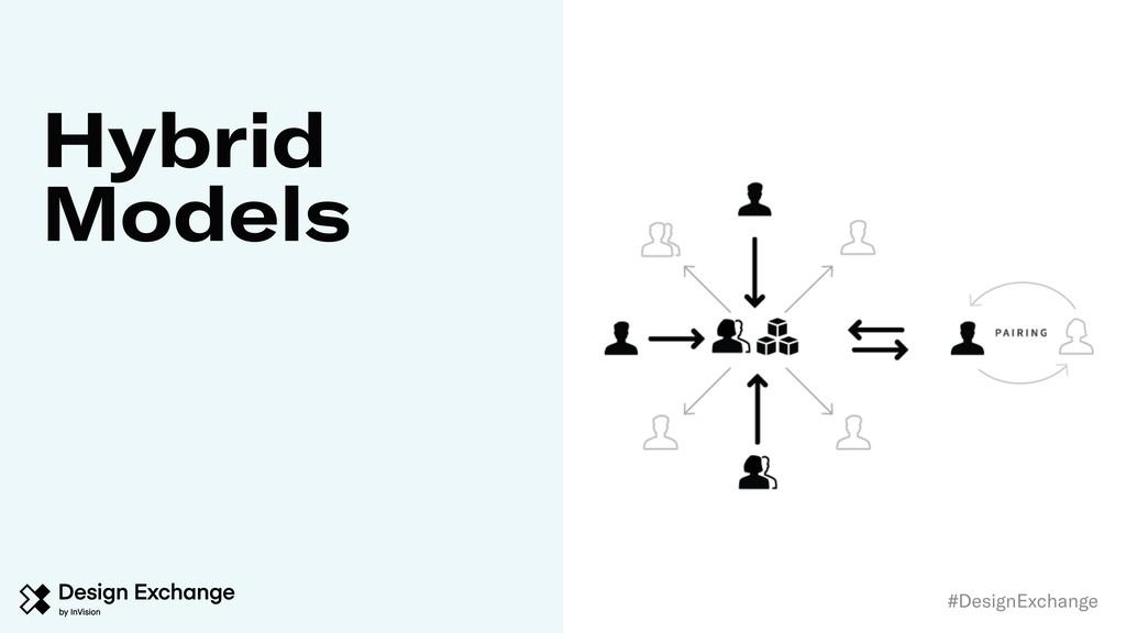 #DesignExchange \ Hybrid Models