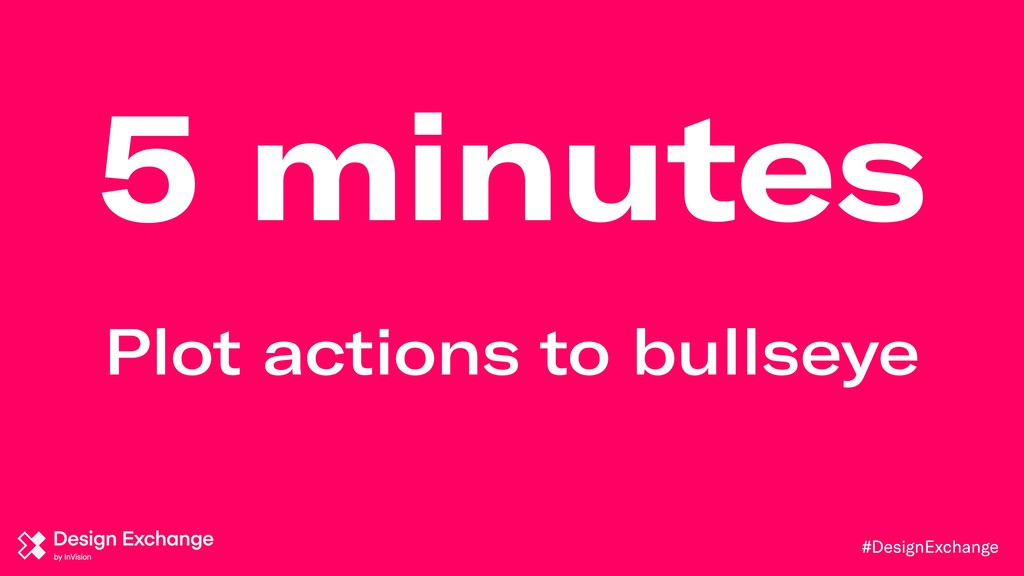 #DesignExchange 5 minutes Plot actions to bulls...