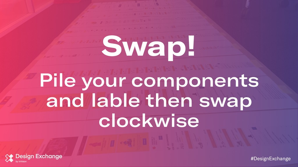 Pile your components and lable then swap clockw...