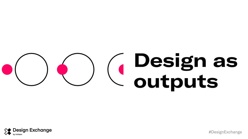 Design as outputs #DesignExchange