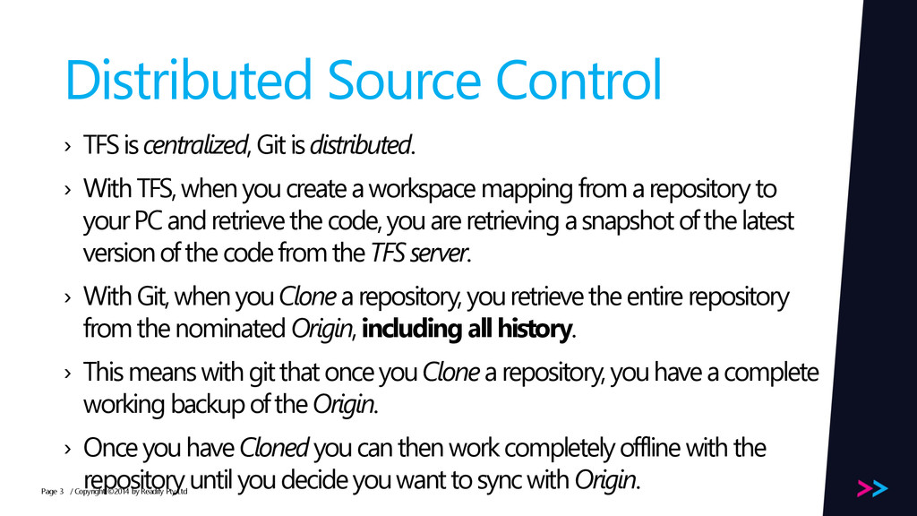 Page Distributed Source Control › TFS is centra...