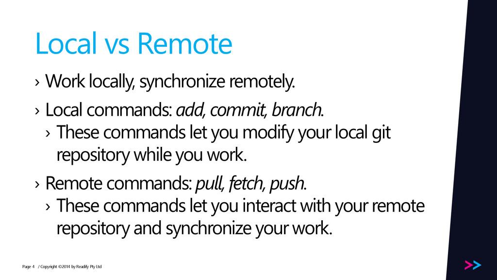 Page Local vs Remote › Work locally, synchroniz...