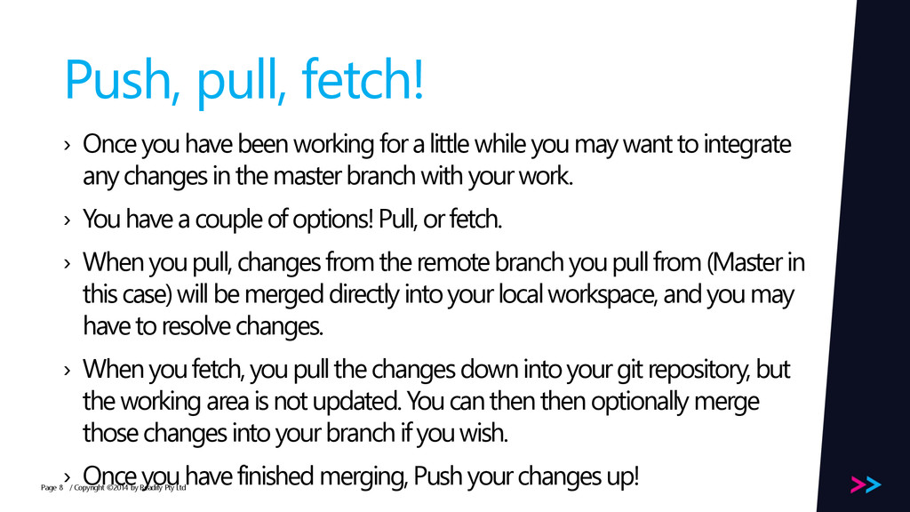 Page Push, pull, fetch! › Once you have been wo...