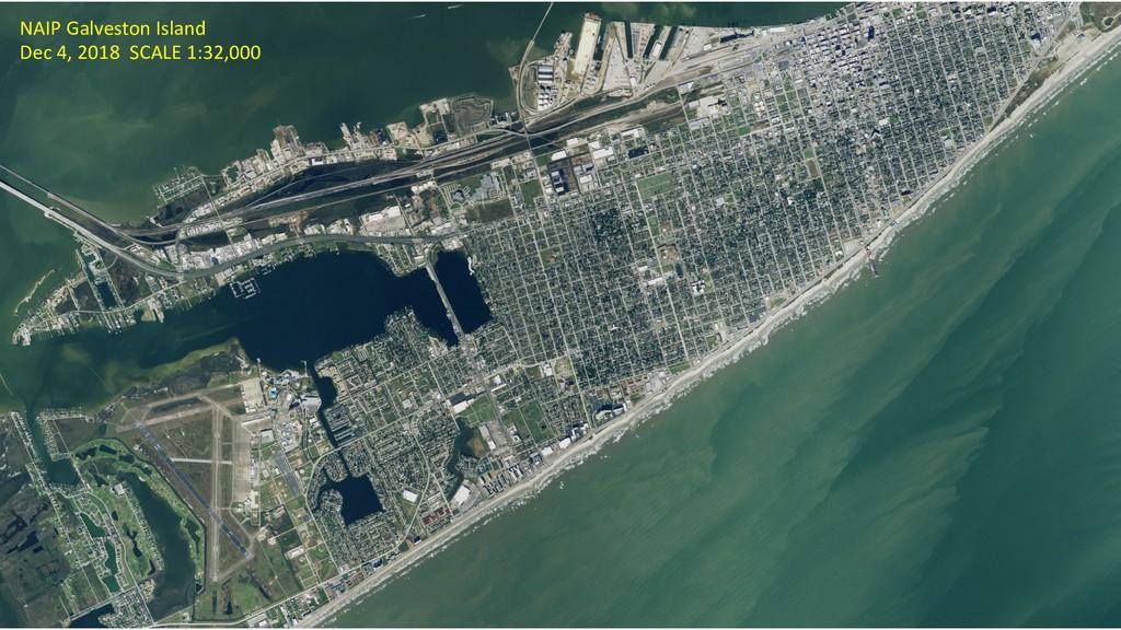 NAIP Galveston Island Dec 4, 2018 SCALE 1:32,000