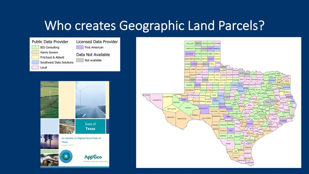 Who creates Geographic Land Parcels?