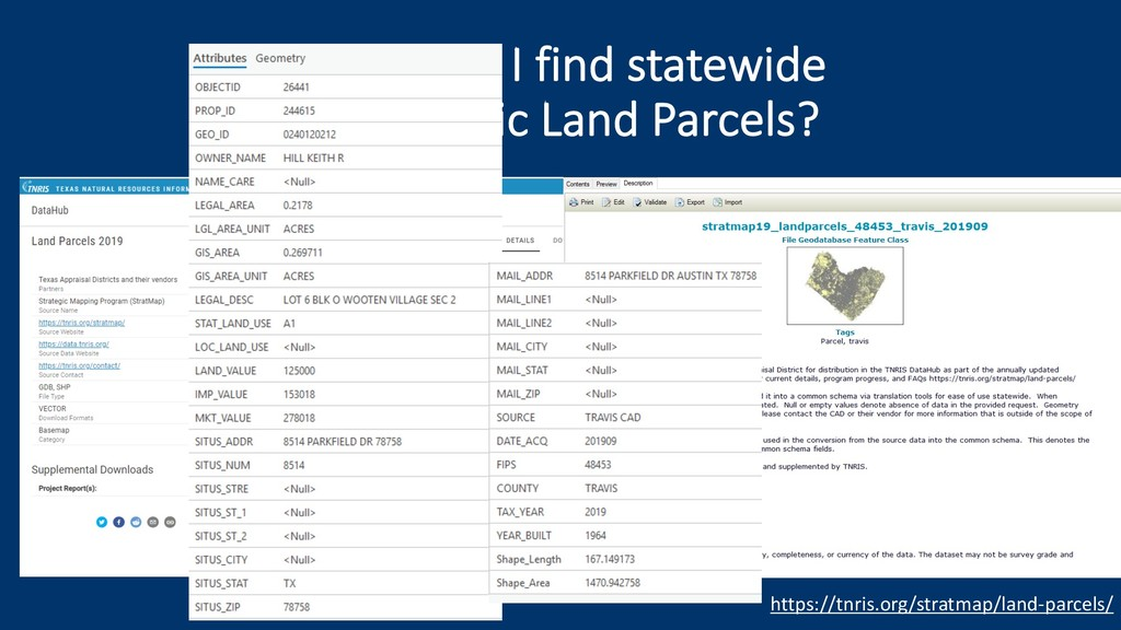 Where do I find statewide geographic Land Parce...