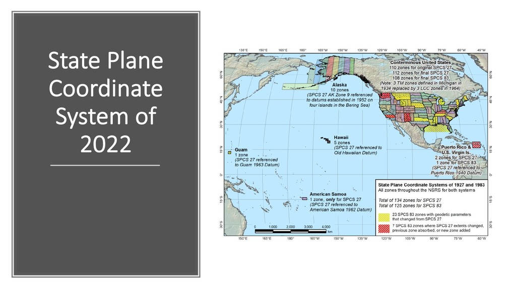 State Plane Coordinate System of 2022