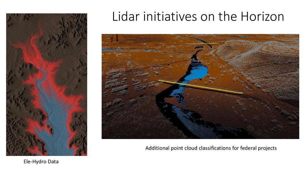 Lidar initiatives on the Horizon Ele-Hydro Data...
