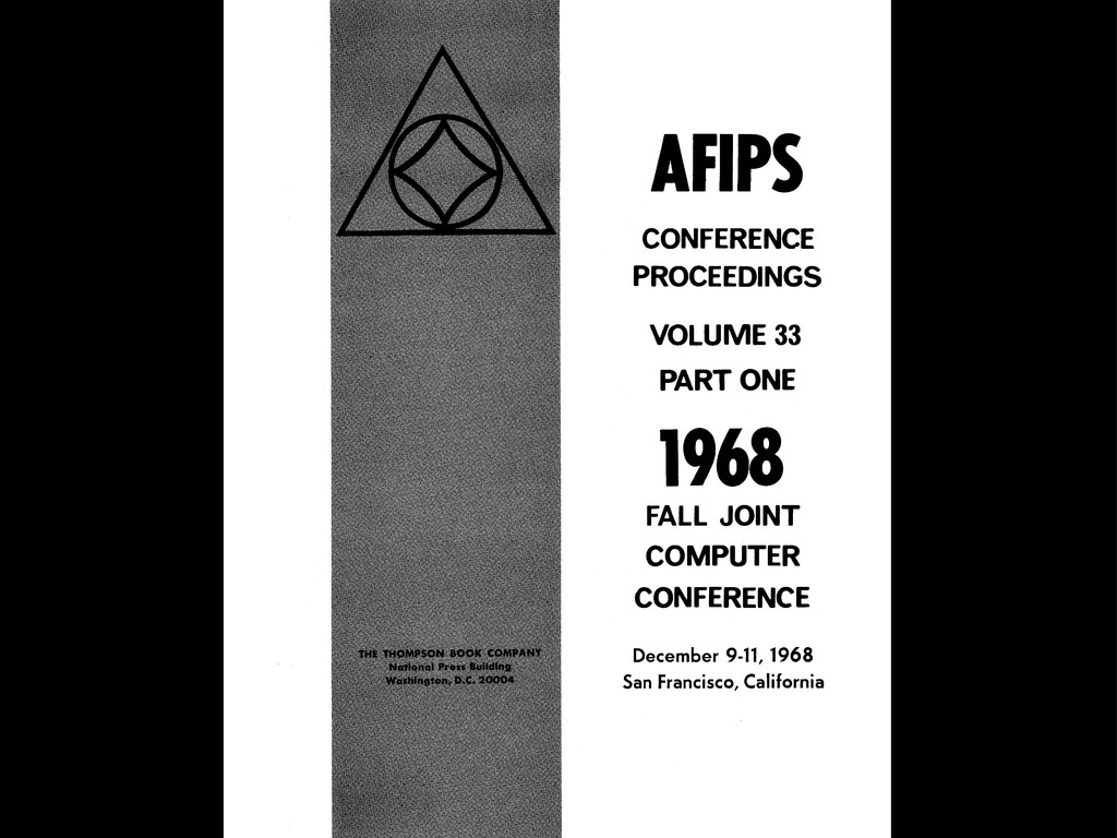 AFIPS CONFERENCE PROCEEDINGS VOLUME 33 PART ONE...