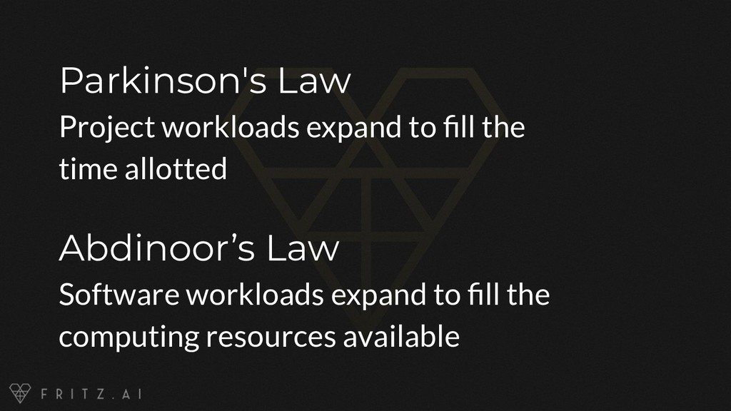 Parkinson's Law Project workloads expand to fill...