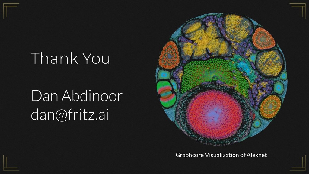 Thank You Dan Abdinoor dan@fritz.ai Graphcore V...