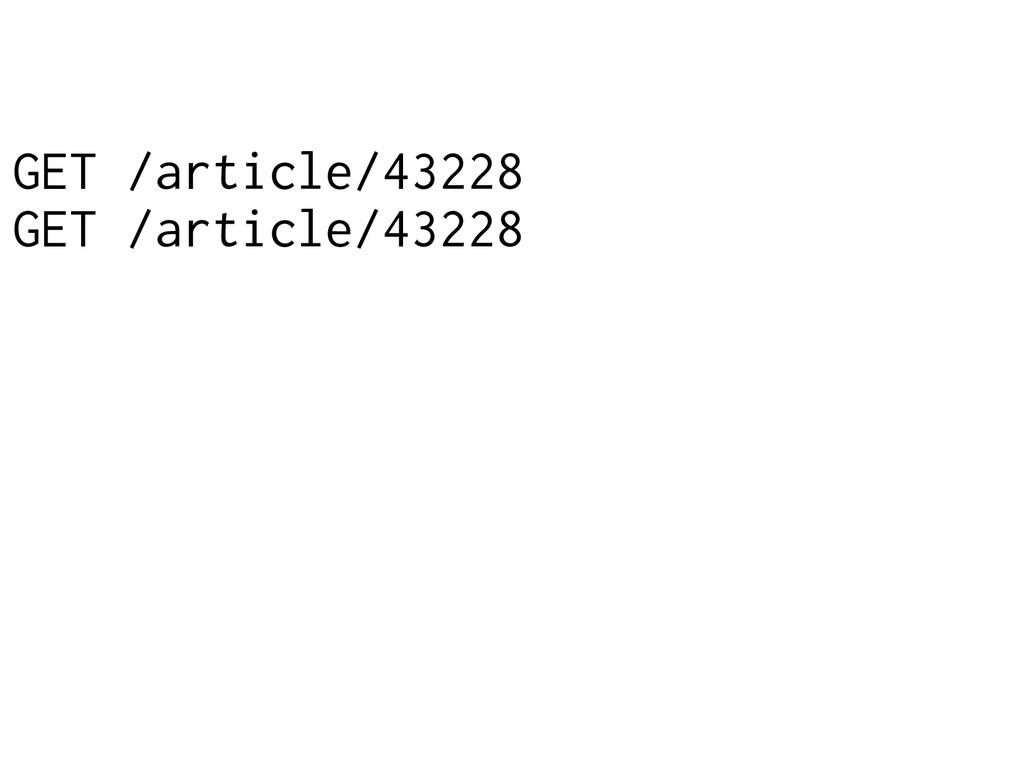 GET /article/43228 GET /article/43228