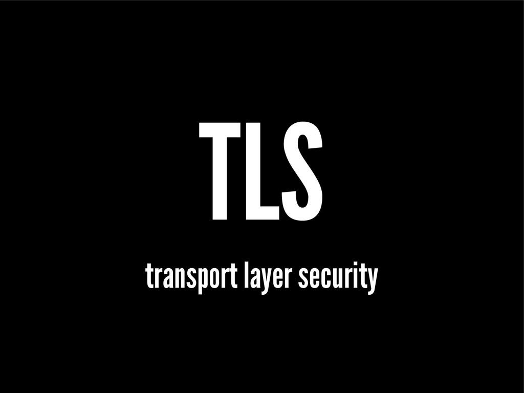 TLS transport layer security