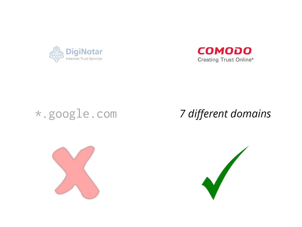 *.google.com 7 different domains