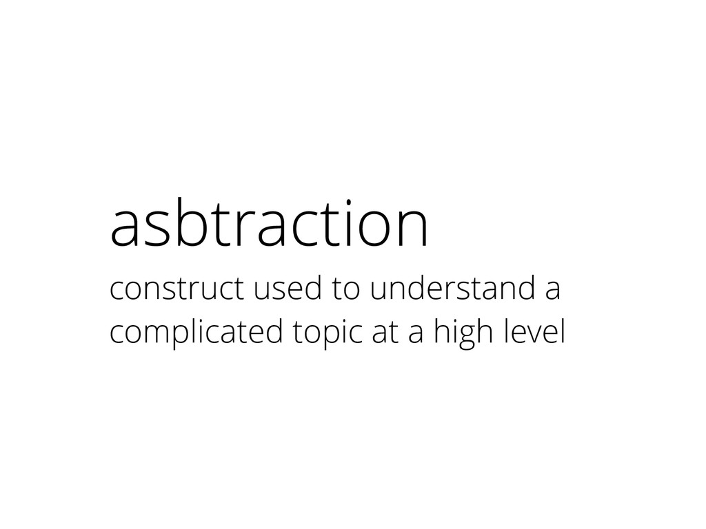 asbtraction construct used to understand a comp...
