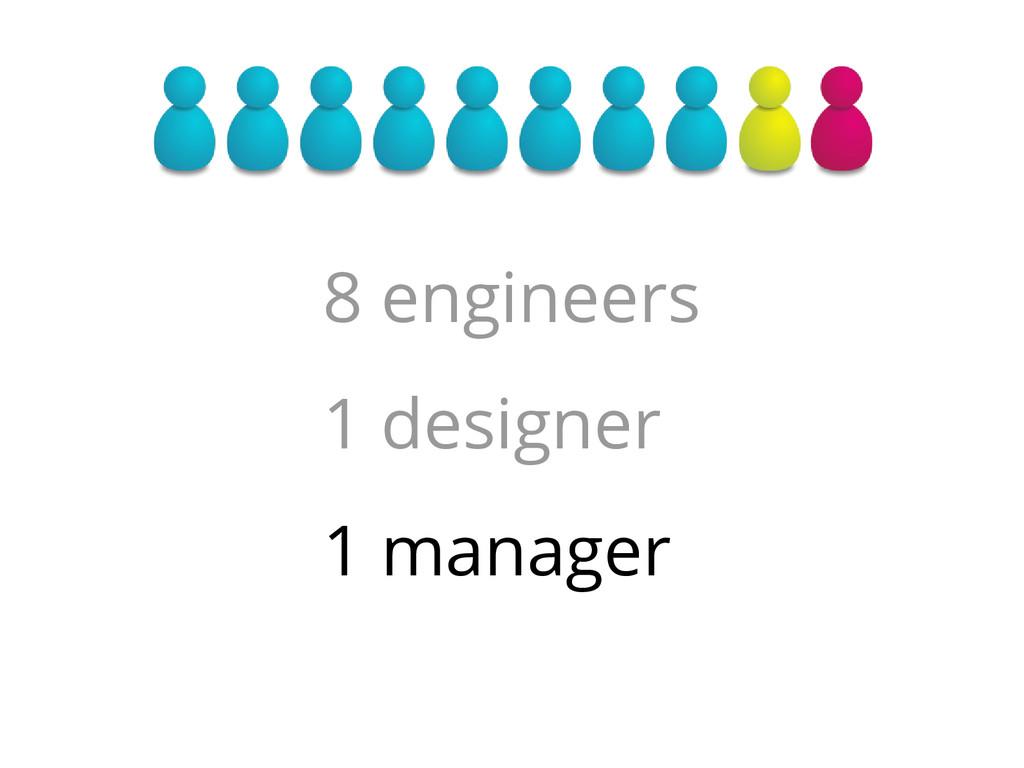 8 engineers 1 designer 1 manager