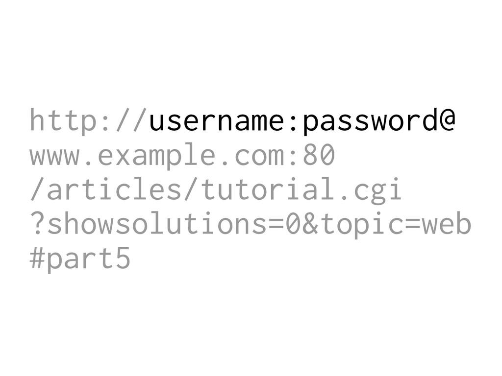 http://username:password@ www.example.com:80 /a...